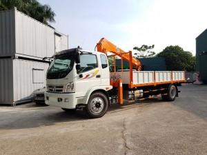 Xe cẩu tự hành Thaco Ollin 950a gắn cẩu 5 tấn hàn quốc