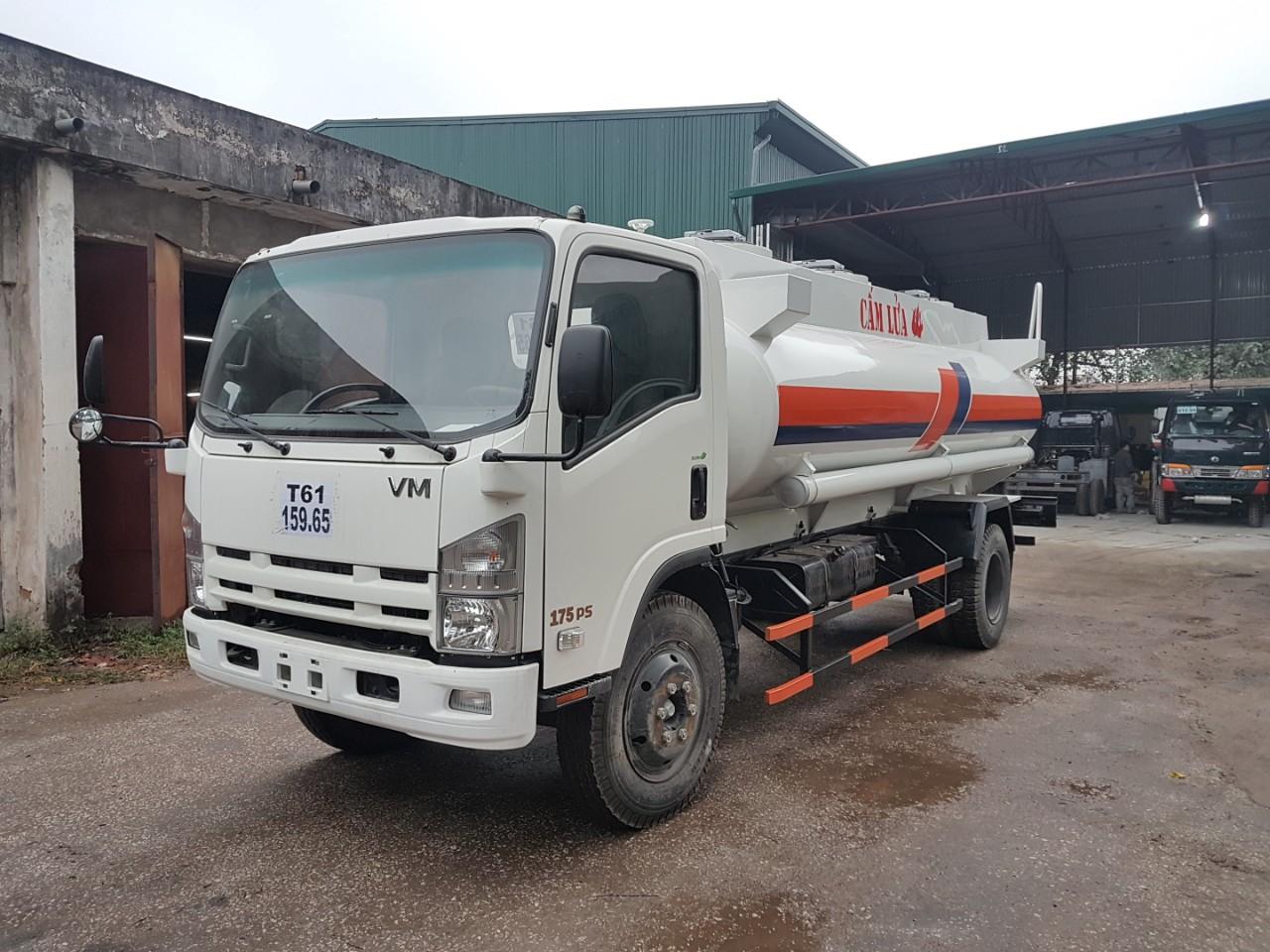 Xe chở xăng dầu Isuzu Vĩnh Phát Fn129S 11 khối