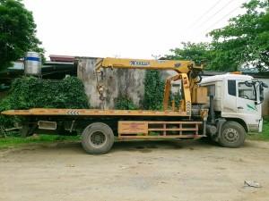 Xe cứu hộ giao thông cẩu 5 tấn có sàn trượt càng kéo