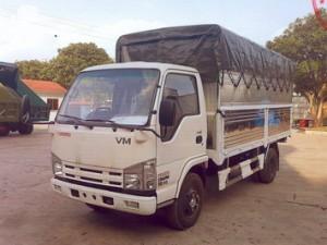 Xe tải Isuzu nâng tải Vĩnh Phát 3,5 tấn thùng bạt Nk650L4