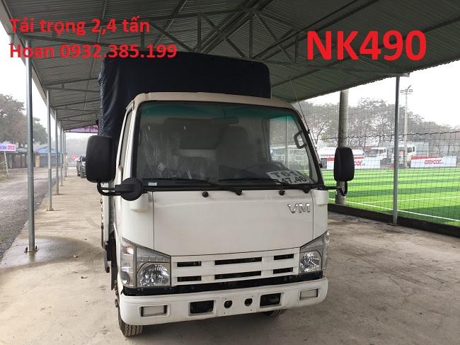 Xe tải mui bạt Isuzu Vĩnh Phát  2,4 tấn NK490  2 tấn 4